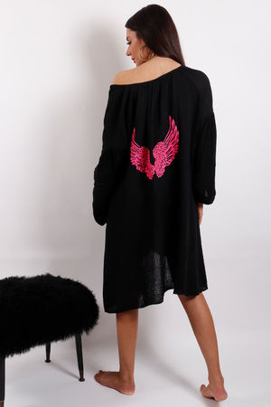 Love Trip Angel Wing Kaftan Black
