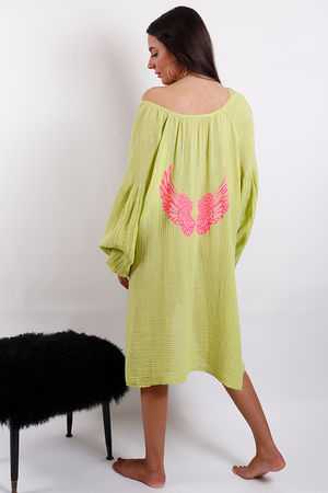 Love Trip Angel Wing Kaftan Soft Lime