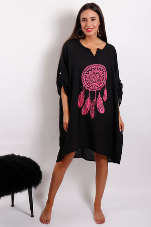 Love Trip Dream Catcher Kaftan Black
