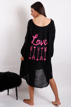 Love Trip Love Kaftan Black