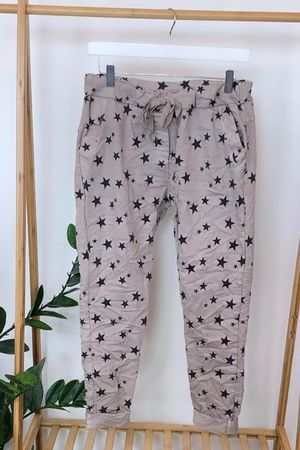 Lux All Star Crinkle Magic Jogger Stone