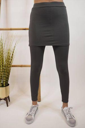 Lux Skirt Leggings Slate
