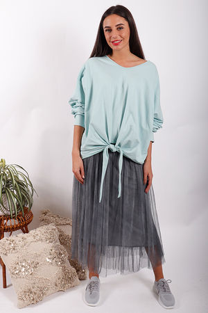 Made In Italy Knot Top Mint