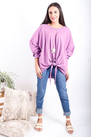 Made In Italy Knot Top Parma Violet