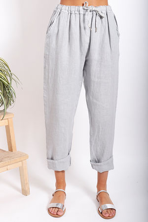 Made In Italy Linen Pant Dove