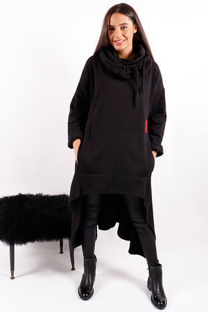 Made In Italy Mercer Trapeze Cowl Sweat Black