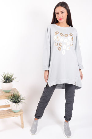 Made In Italy Oversized Lips Love Sweat Misty