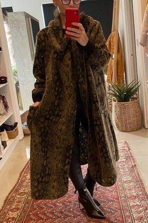 Made In Italy Reptile Wool Coatigan