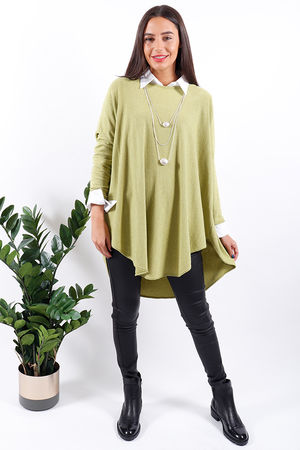 Made In Italy Scoopy Knit Lime