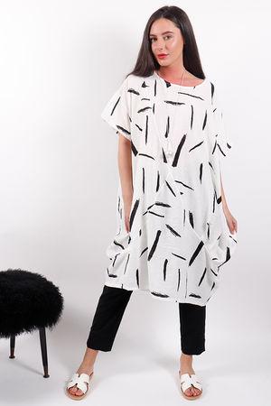Malissa J White Lines Tunic White