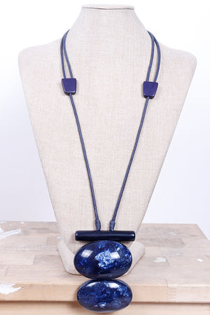 Malmo Chunky Necklace Blues
