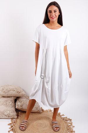 Malmo Hook Dress White