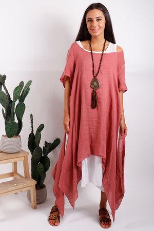 Malmo Two Layer Dress Terracotta
