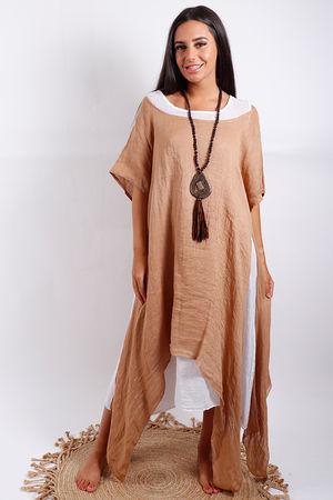 Malmo Two Layer Dress Tobacco