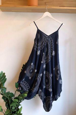 Mandala Handkerchief Dress Navy