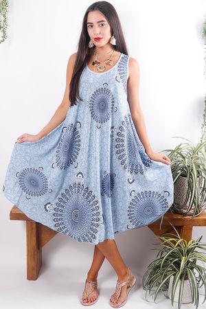 Mandala Shift Dress Sky *Pre Order*