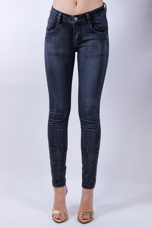 Marant Embroidered Jeans Grey