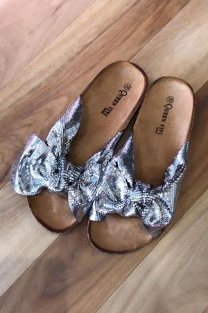 Marant Metallic Twist Slider Silver