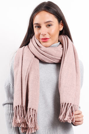Melange Super Soft Scarf Rose