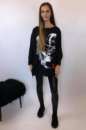Mercer Abstract Skull Sweat Black