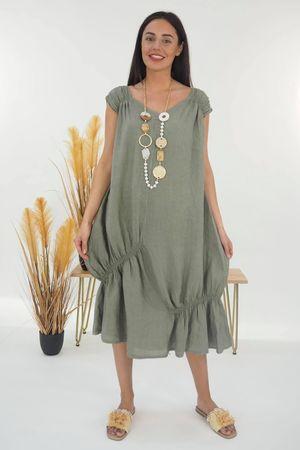 Mercer Aphrodite Dress Khaki