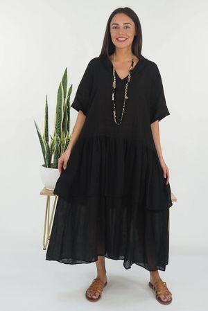 Mercer Athena Dress Black