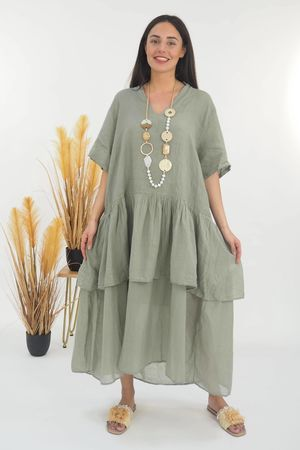 Mercer Athena Dress Khaki