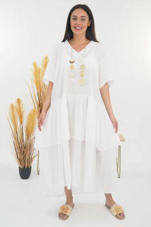 Mercer Athena Dress White