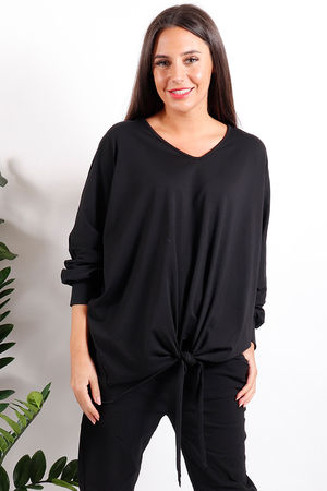 Made In Italy Knot Top Parma Black