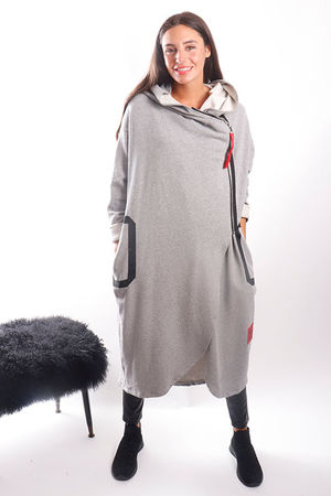 Mercer Longline Coatigan Grey Marl