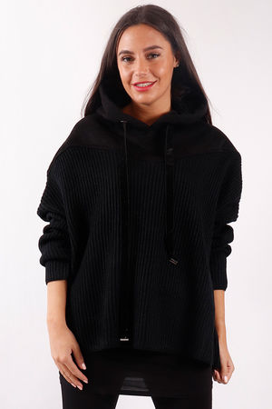 Mercer Ribby Hoody Black