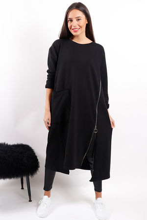 Made In Italy Mercer Zippy Dress Black