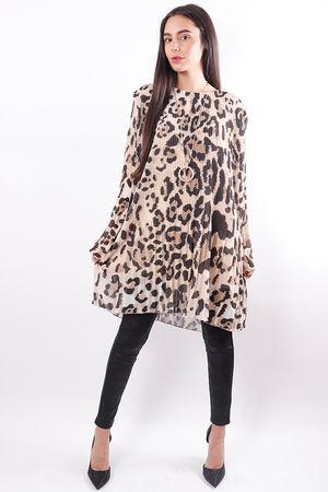 Micro Pleat Tunic Leopard