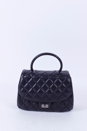 Malissa J Rounded Quilted Bag Black
