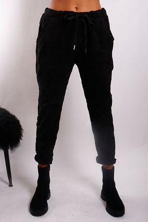 Moleskin Stretch Crinkle Jogger Black