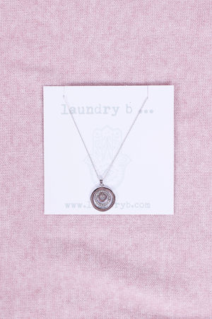 Monica Round Necklace Silver