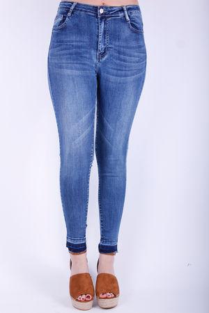 Mono Raw Hem Skinny Jeans