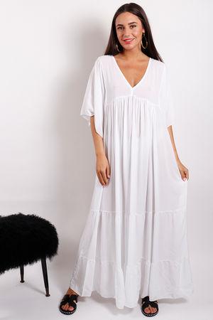 Monomaze Maxi Dress White