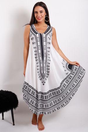 Monomaze Tribal Dress White