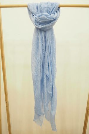 Muslin Raw Edge Scarf Bluebell