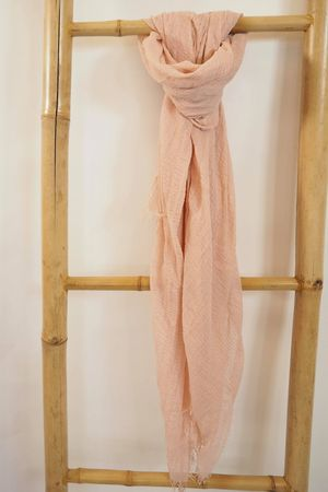 Muslin Raw Edge Scarf Blush