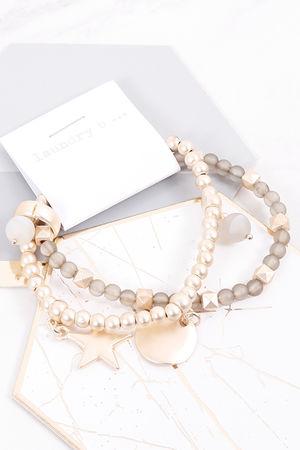 Mykonos Double Star & Disc Bracelet