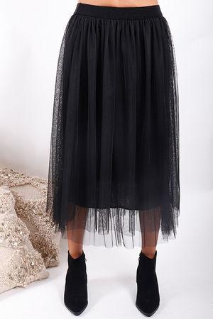 Namaste Midi Tulle Skirt Black
