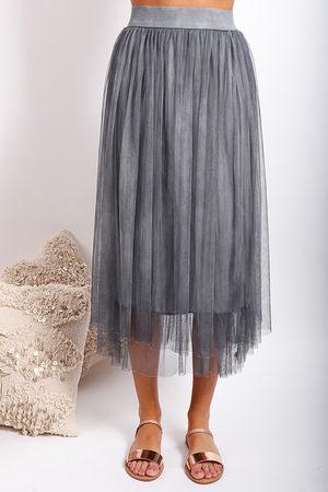 Namaste Midi Tulle Skirt Washed Graphite