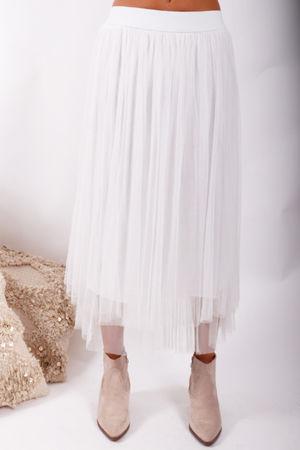 Namaste Midi Tulle Skirt White