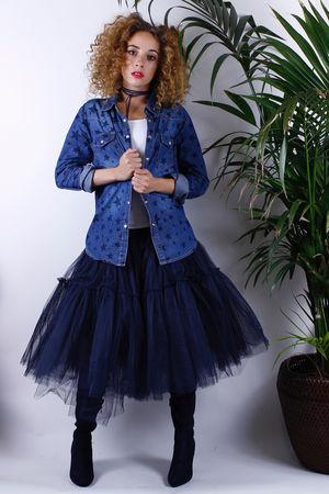 Navy Ballet Skirt