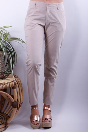 Olena Cotton Trousers Taupe