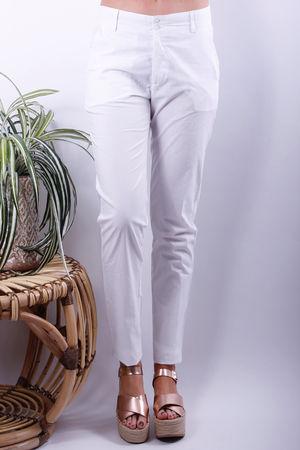 Olena Cotton Trousers White