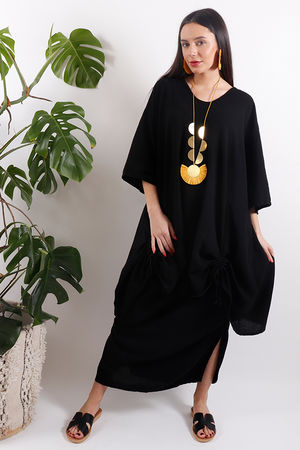 One Life Captiva Ruche Tunic Black