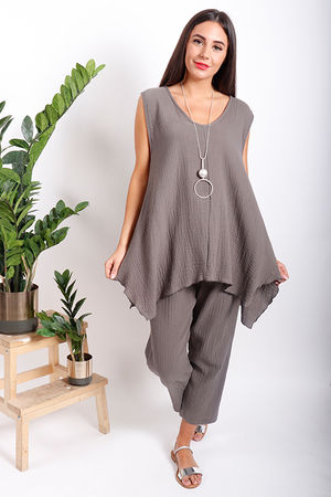 One Life Molly Swing Vest Taupe